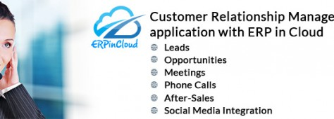 Cloud ERP Customer Relationship Management [CRM] application with ERP in Cloud