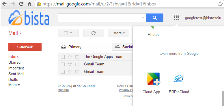 Google Apps for Cloud ERP