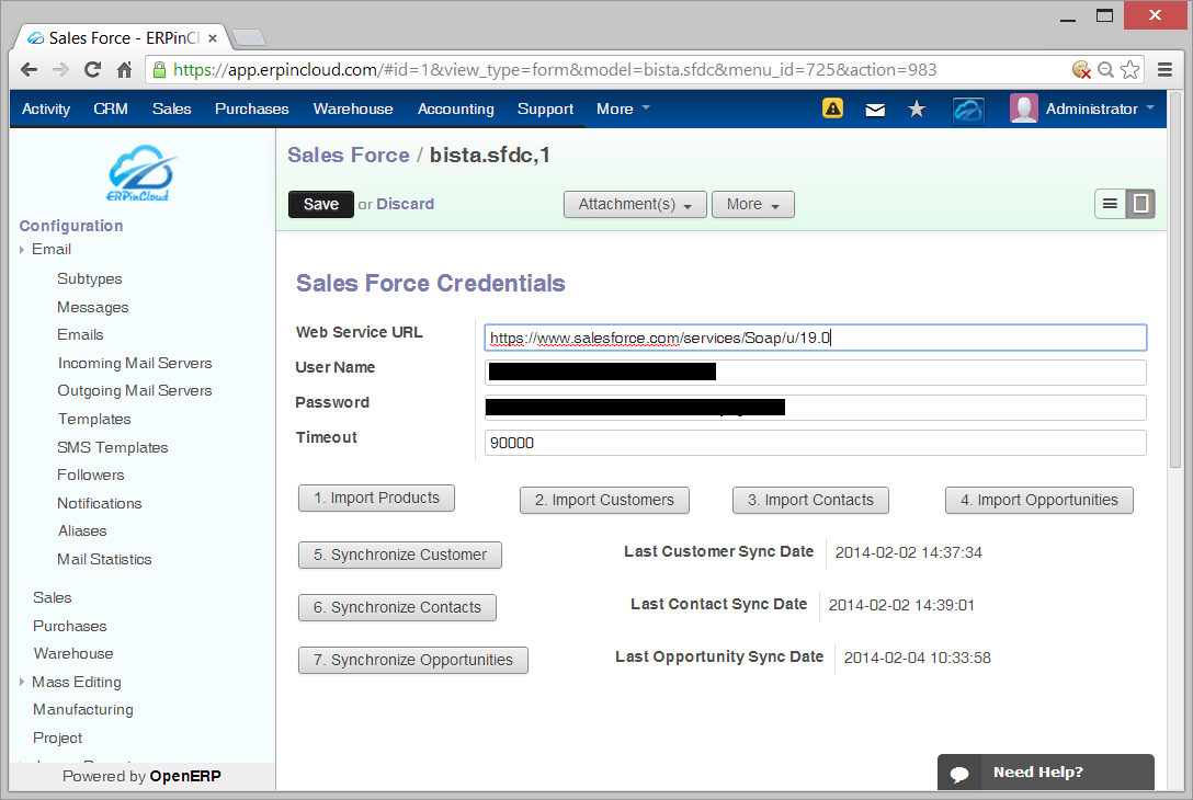 Cloud ERP Salesforce Integration Features