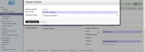 Cloud ERP Authorize.Net Integration with Cloud ERP