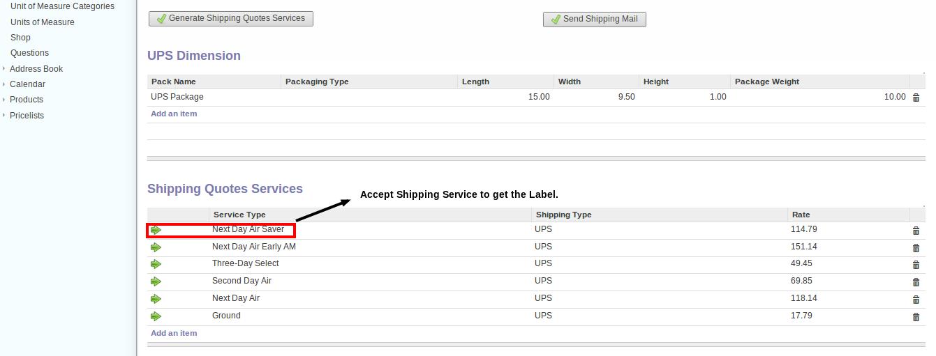 Cloud ERP order shipment