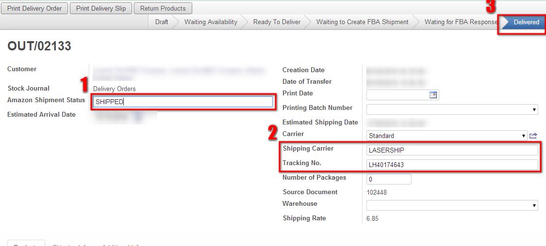 Cloud ERP Shipping Status