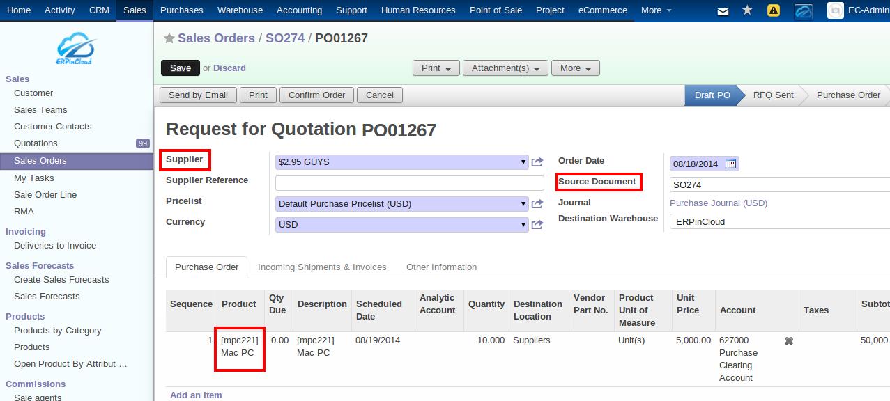 Cloud ERP Supplier RFQ