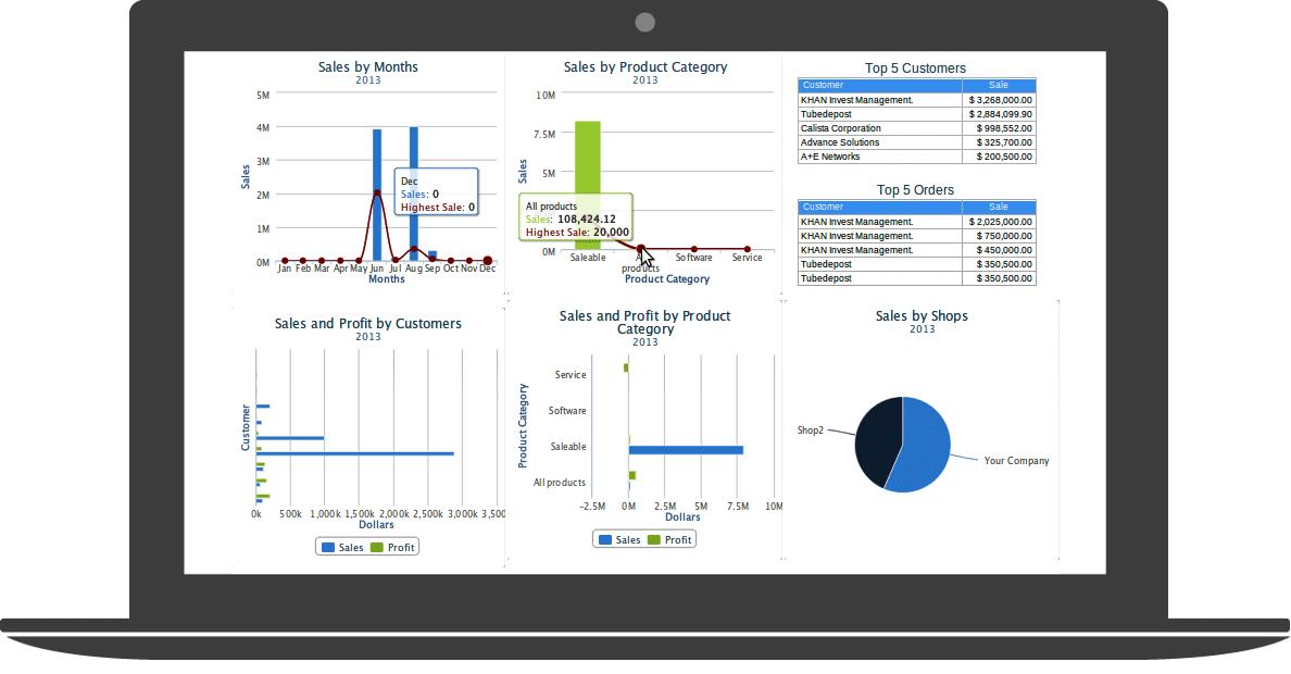 Cloud ERP sales analytics