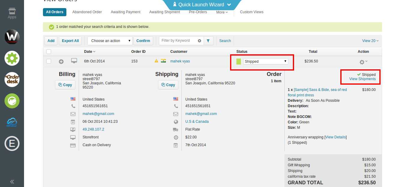 BigCommerce order management with cloud erp