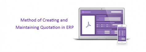 Cloud ERP Method of Maintaining Revised Quotation in Cloud ERP